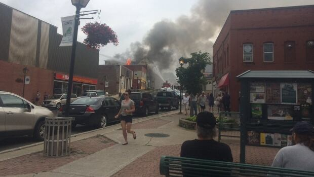 Woodstock Fire Destroys Historic Rose Building Cbc News