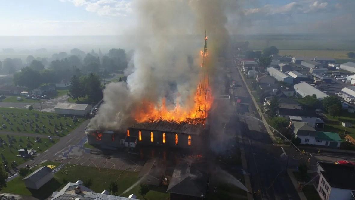 Birds Eye View Of The St Isidore Church Fire Ottawa