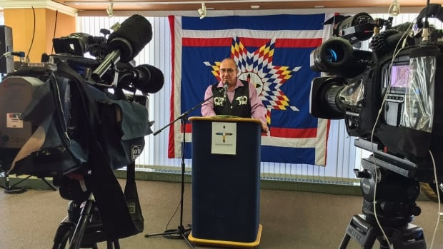 Chief David Crate is the co-chair of the Manitoba First Nation Technology Council. He announced a new project which will bring high-speed internet to Manitoba's 63 First Nations communities.