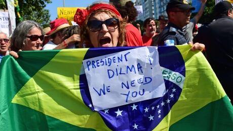Rio de Janeiro protests against interim president Michel Temer