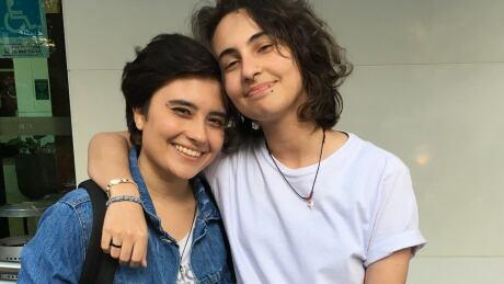 Mariana Dentos, 20; and her girlfriend Giuliana