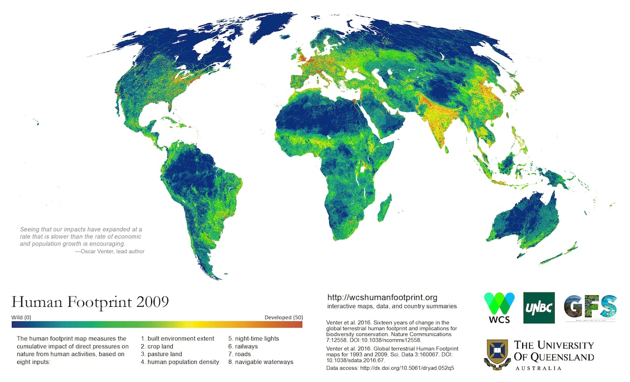 Average Human S Ecological Impact On The Planet Shrinking
