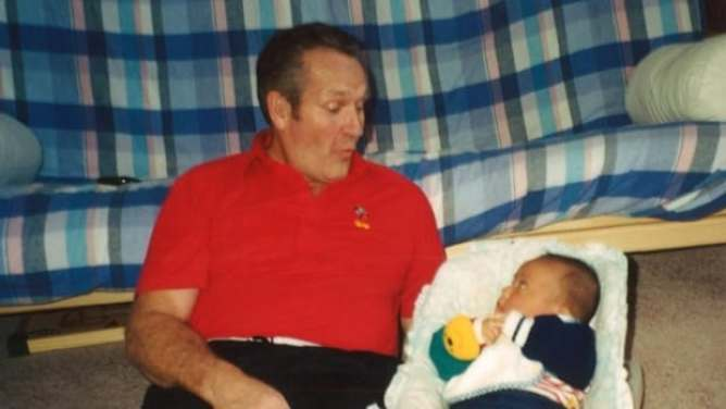 Jim Lynn lays beside his son. Mark Lynn, 21, went missing on Aug. 24, near Dettah, N.W.T. Earlier this month human remains found near the community were confirmed by the RCMP to be Mark's