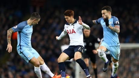 Image result for Tottenham fight back to deny City at Etihad