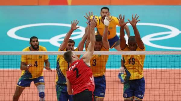 Canadian men's volleyball team falls to Brazil at FIVB ...
