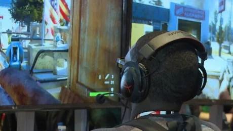 Gamer playing Far Cry 5