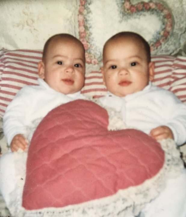 The twins when they were babies