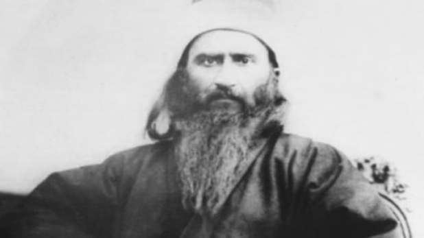 One of the few known photo's of Bahá'u'lláh, the founder of the Baha'i religion.