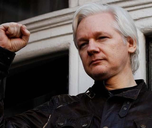 Wikileaks Founder Julian Assange Is Seen On The Balcony Of The Ecuadorian Embassy In London On May 19 2017 He Is Still Living In The Embassy Fearing That