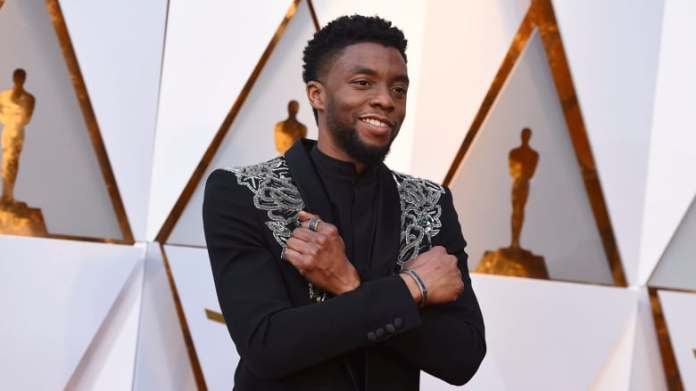 Chadwick Boseman arrives at the Oscars at the Dolby Theatre in Los Angeles in March 2018. He was diagnosed with colon cancer four years ago, according to his family. (Jordan Strauss/Invision/AP)