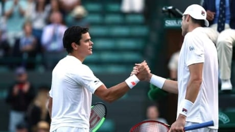 Raonic eliminated by Isner at Wimbledon