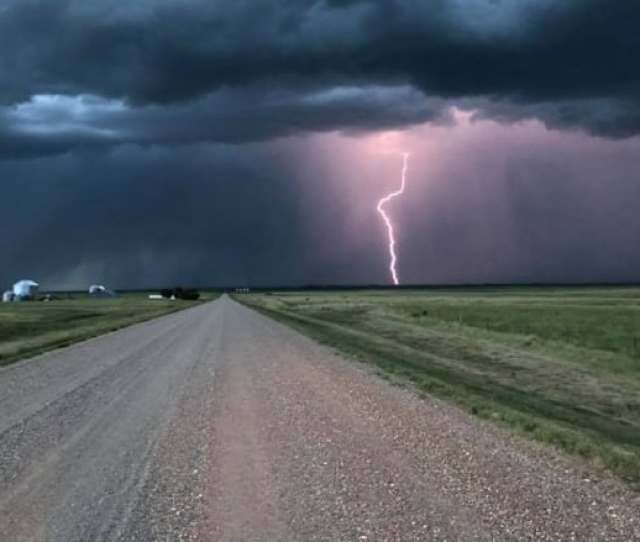 Richard Fitzgerald Took This Photo Thursday Night Near Burstall Sask More Thunderstorms Are Expected Saturday Photo Submitted By Richard Fitzgerald