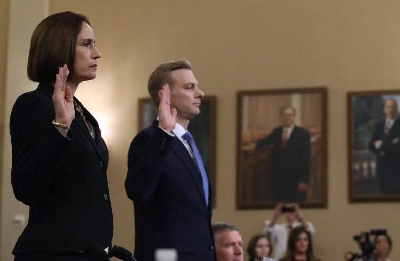 fiona hill david holmes swearing in 1183756635 - Missed Day 5 of the impeachment hearings? Here are some trial moments