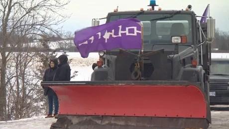 Tyendinaga Mohawk rail demonstration
