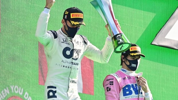 Canada's Lance Stroll posts 2nd top-3 finish of F1 career, placing 3rd in Italy