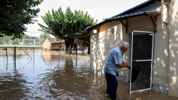 Storm causes deadly flooding in central Greece   CBC