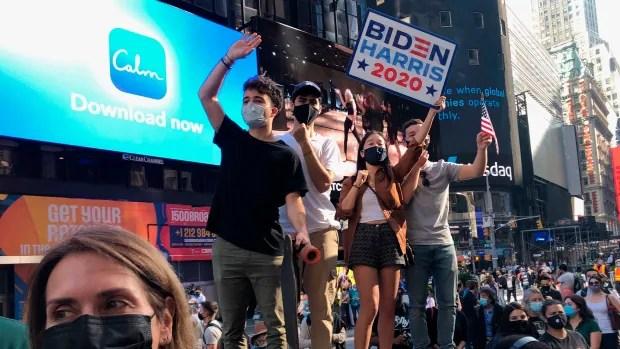 Protests and celebrations erupt as Biden wins U.S. presidency