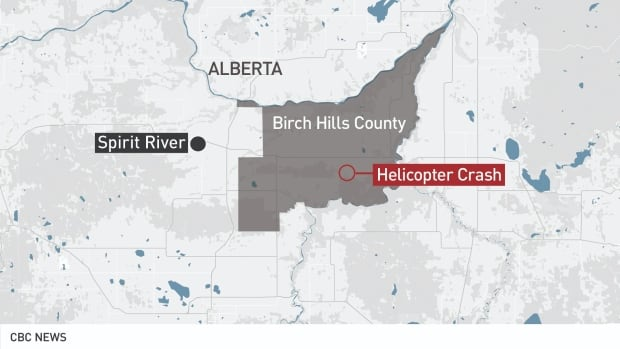 RCMP confirms identities of family members killed in northern Alberta helicopter crash   CBC News