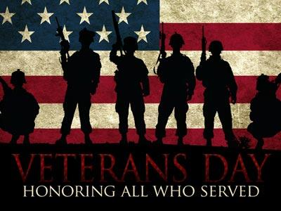 Church PowerPoint Template Veterans Day Soldiers