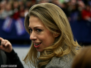 The student who questioned Chelsea Clinton on the Monica Lewinsky scandal said he meant no harm.