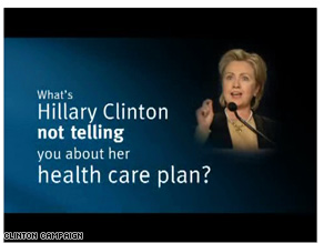 New Obama ad takes aim at Clinton over health care.