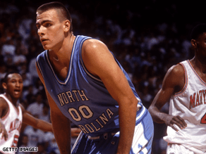 Former UNC center Eric Montross was a big backer of John Edwards' White House bid.