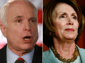 McCain and Pelos reacted to the president's speech.