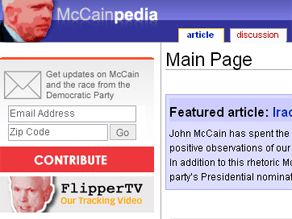 The DNC launched an anti-McCain Web site Monday.