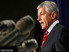 Hagel is upset with some of McCain's comments on Iran.