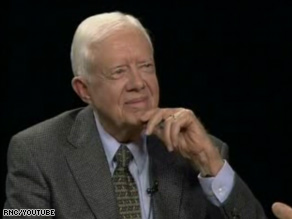 Carter, in a 2006 Charlie Rose appearance.