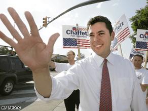 Jason Chaffetz defeated Republican Rep. Chris Cannon Tuesday night .