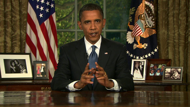 President Obama spoke to the nation about the oil disaster from the Oval Office on Tuesday night.