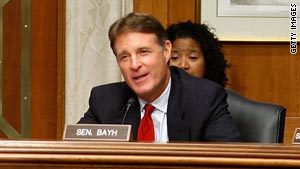 Sen. Evan Bayh, a former two-term governor, was elected to the Senate in 1998.