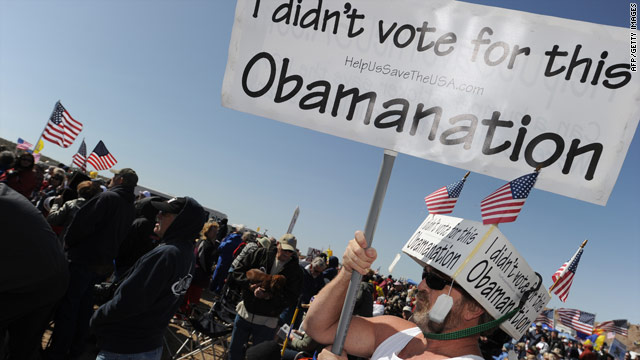 Tea Party activists protest big government and health care reform over the weekend.