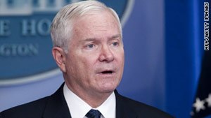 Defense Secretary Robert Gates is essentially telling gays and lesbians serving in the military not to come out yet.