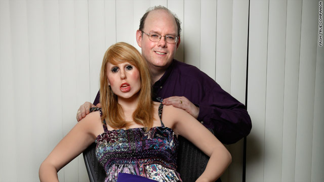 Inventor Douglas Hines with Roxxxy, his computerized sex robot that can carry on a conversation and have a simulated orgasm.