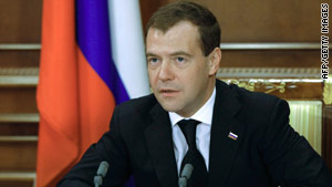 "Russian President Dmitry Medvedev has called the return of an  adopted boy by an American family a ""monstrous"" act."