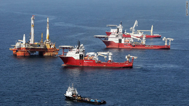 Drill ships returned to the well site Sunday