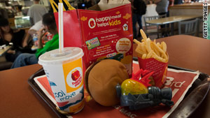 The ordinance requires Happy Meals and other fast food with toys to meet new nutritional standards.