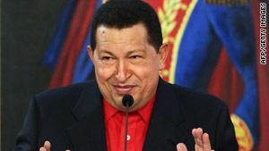 """Venezuela President Hugo Chavez said his Colombian counterpart, Alvaro Uribe, is """"crazed."""""""