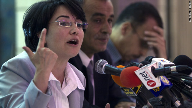 Israeli Knesset Member Hanin Zoabi holds a press conference after  the Israeli raid on the flotilla.