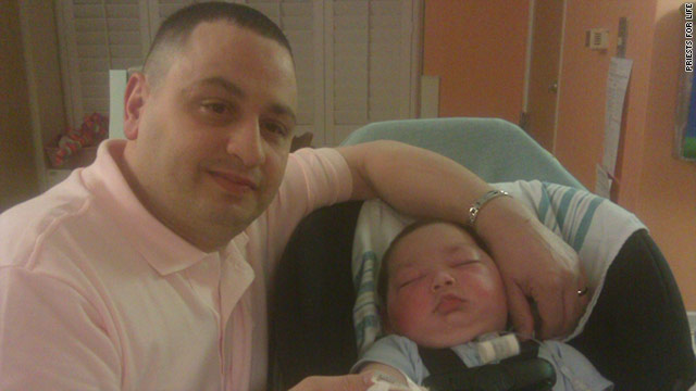 CNN photo of Joseph and his father
