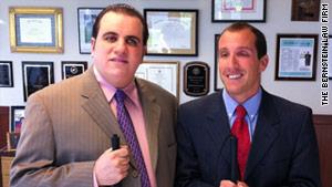 Binno (right) and his attorney (Bernstein)