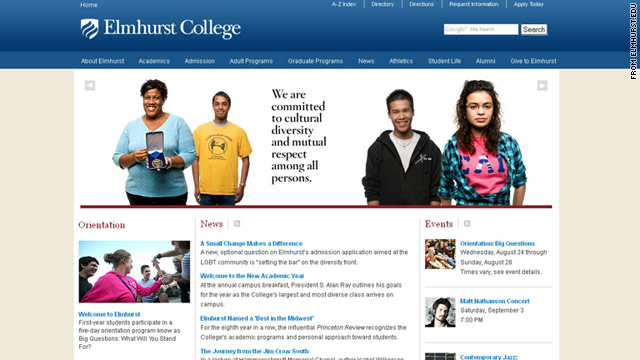 Elmhurst says the sexual orientation question helps the college advance diversity and connect students with school resources.