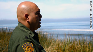 Border agent Jose Romero says smugglers and terrorists could easily sneak into the country from nearby Canada.