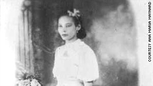 Ana María Tekina-eirú Maynard's grandmother is pictured in Puerto Rico about 1938.