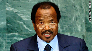 Opposition groups are planning protests Wednesday to call for the ouster of Cameroon President Paul Biya.