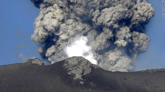 Japanese Mt. Shinmoe has erupted in recent days, sending ash nearly 10,000 feet in the air at one point last week.
