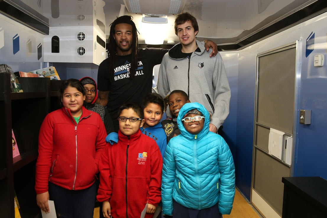 Minnesota Timberwolves Give Books to Kids to Promote Reading