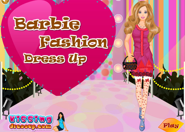 Barbie dress up and makeup fashion show games